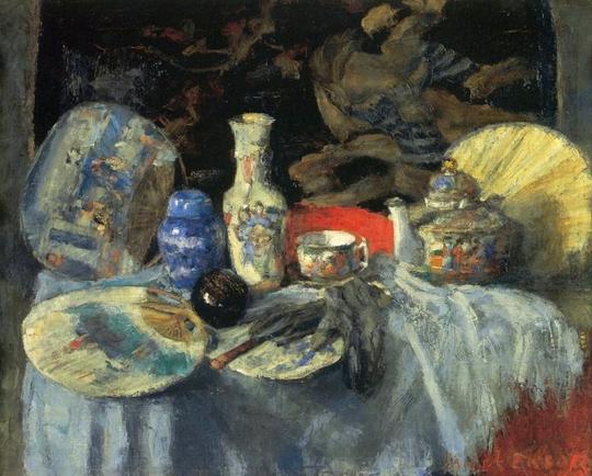 Ensor Chinoiseries aux éventails, 1880