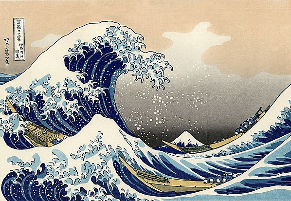 Hokusaï La grande vague de Kanagawa