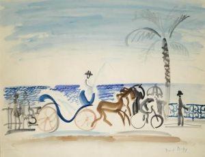 Raoul Dufy Nice, le fiacre au palmier 1925